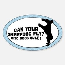 Disc Old English Sheepdog Oval Decal