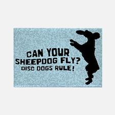 Disc Old English Sheepdog Rectangle Magnet