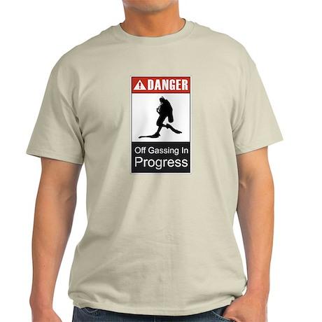 Danger Off Gassing 2 Light T-Shirt