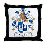 Mundel Family Crest Throw Pillow