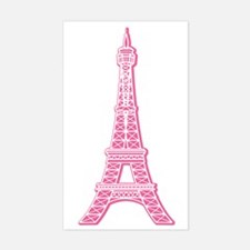 Pink Eiffel Tower Rectangle Decal