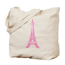 Pink Eiffel Tower Tote Bag