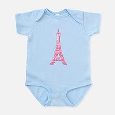 Pink Eiffel Tower Infant Bodysuit