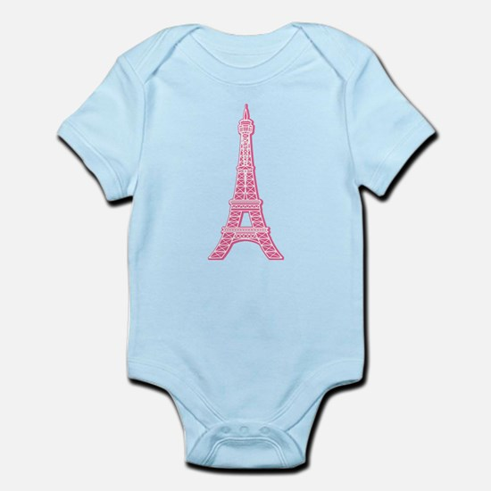 Pink Eiffel Tower Infant Bodysuit