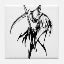 Gothic Grim reaper artwork Tile Coaster