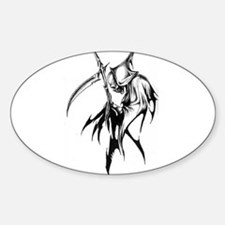 Gothic Grim reaper artwork Oval Decal