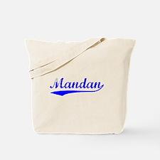 Vintage Mandan (Blue) Tote Bag