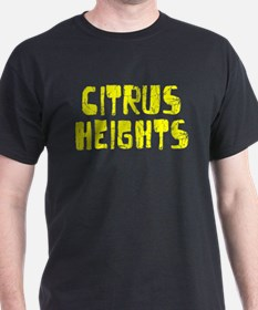 Citrus Heights Faded (Gold) T-Shirt