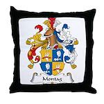 Montag Family Crest Throw Pillow