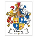 Montag Family Crest Small Poster