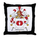 Monnich Family Crest Throw Pillow