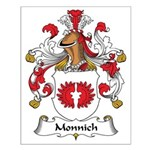 Monnich Family Crest Small Poster
