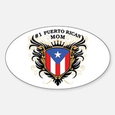 Number One Puerto Rican Mom Oval Decal