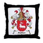 Molitor Family Crest Throw Pillow