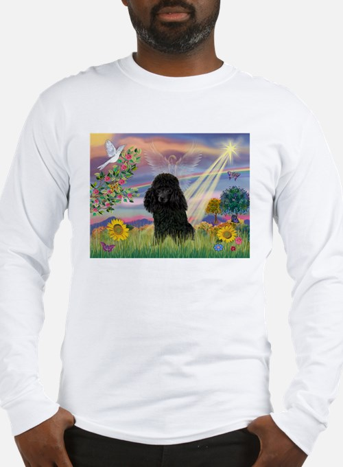 Cloud Angel & Poodle (#2) Long Sleeve T-Shirt