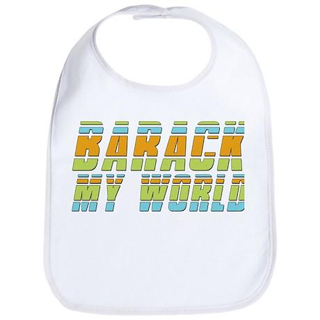 Barack My World Baby Bib