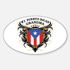Number One Puerto Rican Grandma Oval Decal