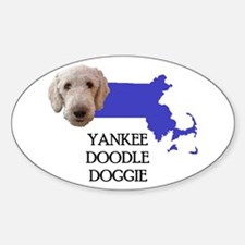 Massachusetts Labradoodle Oval Decal