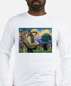 St. Francis & Black Poodle #2 Long Sleeve T-Shirt