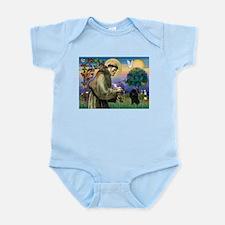 St. Francis & Black Poodle #2 Infant Bodysuit