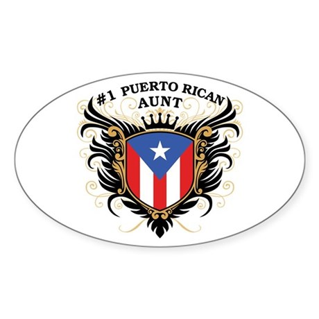 Number One Puerto Rican Aunt Oval Sticker