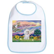 Cloud Angel & White Poodle Bib