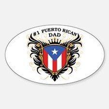Number One Puerto Rican Dad Oval Decal