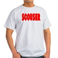 Scouser Red Letters T-Shirt