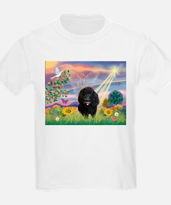 Cloud Angel & Poodle #17 Kids T-Shirt