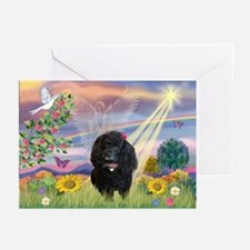 Cloud Angel & Poodle #17 Greeting Cards (Package o