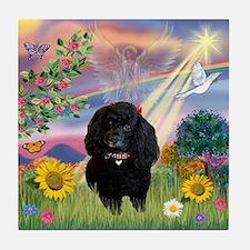 Cloud Angel & Poodle #17 Tile Coaster