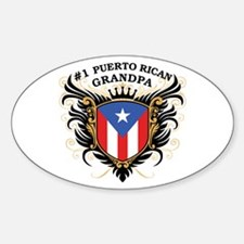 Number One Puerto Rican Grandpa Oval Decal