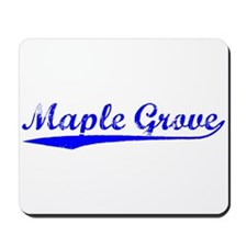 Vintage Maple Grove (Blue) Mousepad
