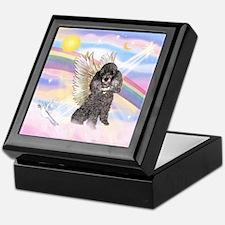 Silver Poodle Angel Keepsake Box