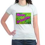 Women Mow Lawns Better Jr. Ringer T-Shirt