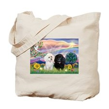 Cloud Angel & 2 Poodles Tote Bag
