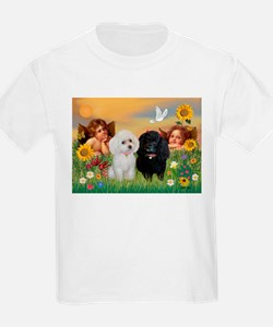 Two Angels/2 Poodles T-Shirt
