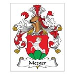 Mezger Family Crest Small Poster