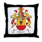 Meurer Family Crest Throw Pillow