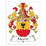 Meurer Family Crest Small Poster