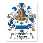 Metzen Family Crest Small Poster