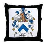 Metsch Family Crest Throw Pillow