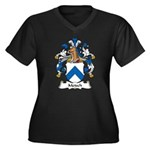 Metsch Family Crest Women's Plus Size V-Neck Dark