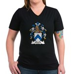 Metsch Family Crest Women's V-Neck Dark T-Shirt