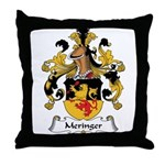 Meringer Family Crest Throw Pillow
