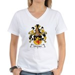 Meringer Family Crest Women's V-Neck T-Shirt