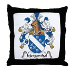 Mergenthal Family Crest Throw Pillow