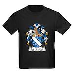 Mergenthal Family Crest Kids Dark T-Shirt