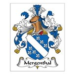 Mergenthal Family Crest Small Poster