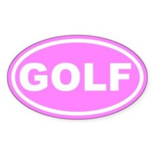 GOLF Pink Euro Oval Bumper Stickers
